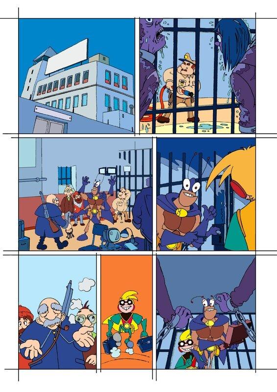 étape 01 couleurs page 11 Blateman et Bobine T1
