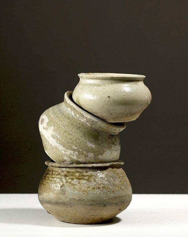 Trois pots, Vietnam, Dynasties des Lý-Trần, 13°-14° siècle