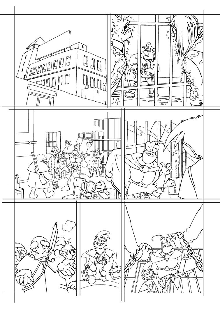 encrage page 11 Blateman et Bobine T1