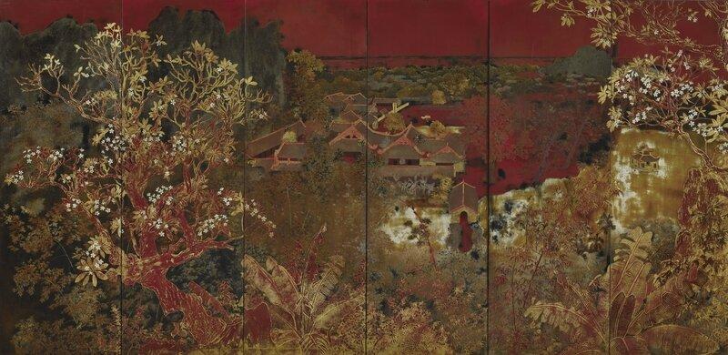 Nguyễn Gia Trí (1909-1993), Paysage (Landscape), 1940