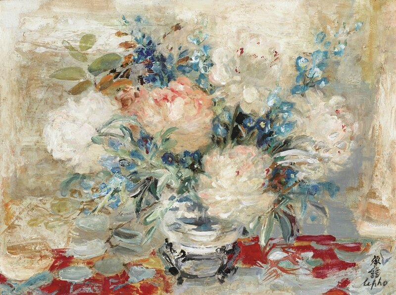Lê Phổ (1907-2001),Vase de fleurs (Flowers vase)