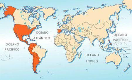 mapa de la lengua española en el mundo