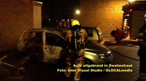Autobrand in Swalmstraat