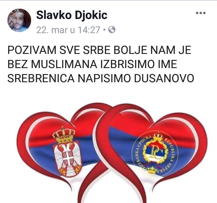 - Ovaj čovjek prijeti Bošnjacima, poziva Srbe na brisanje imena Srebrenica i tvrdi... (FOTO)