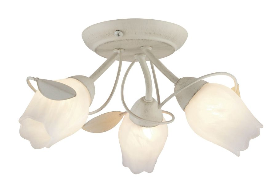 April Cream Brushed 3 Lamp Ceiling Light