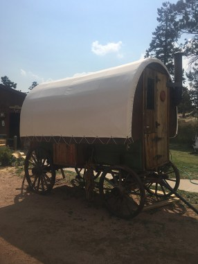Covered wagon in canvas
