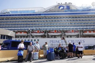 Passengers and crew will remain on the Caribbean Princess while crew members get tested for COVID-19