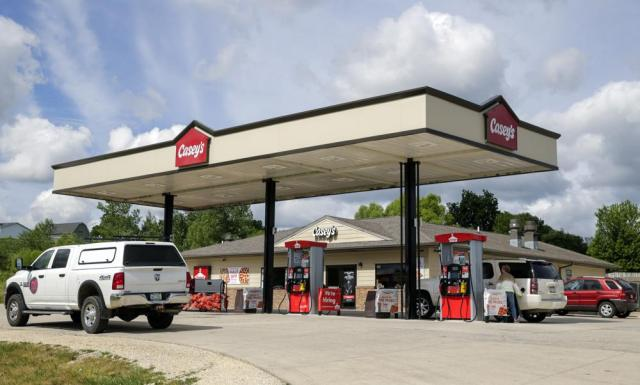 The Casey's, 5110 Highway 13, in Coggon, Iowa, on Monday, June 21, 2021. A Linn County Sheriff's Office deputy was shot multiple times by an armed suspect upon entering the convenience store in Coggon while responding to a robbery alarm. (Jim Slosiarek/The Gazette via AP)