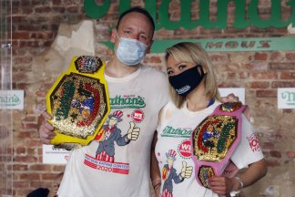 Nothing, including coronavirus pandemic plague, could stop Nathan's Famous Hot Dog Eating Contest this 4th of July, 2020