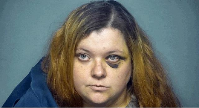 In this image provided by Chester County South Carolina Sheriff's Office is Adrienne Simpson, who was arrested Monday, May 17, 2021, in Chester County, S.C., and charged in connection with an ongoing manhunt for a man suspected in several shooting deaths in South Carolina and Missouri. Simpson was arrested after a police chase and eventual crash; the search for Tyler Terry was ongoing. (Chester County South Carolina Sheriff's Office via AP)