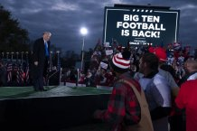 Presidential campaign update: Trump takes a Big 10 football lap in Ohio rally