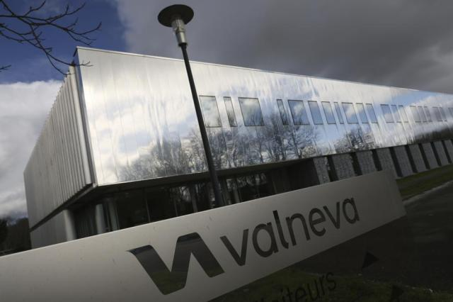 """FILE - In this Feb. 3 2021 file photo, the French vaccine startup Valneva headquarters is pictured in Saint-Herblain, western France. A French pharmaceutical startup announced Monday, Sept. 13, 2021 that the British government has abruptly terminated an agreement for it to supply tens of millions of COVID-19 vaccines. Britain alleged that Valneva was in breach of its obligations under the supply agreement, which the company """"strenuously"""" denied. There was no immediate comment from the British side.(AP Photo/David Vincent, File)"""