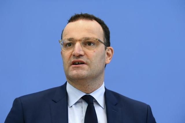 German Health Minister Jens Spahn speaks during a news conference on the COVID-19 vaccination campaign, in Berlin, Germany, Wednesday, Sept. 8, 2021. (Annegret Hilse/Pool Photo via AP)
