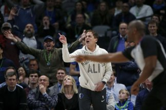 """13.NBA fines Dallas owner Mark Cuban 0,000 for """"public criticism and detrimental conduct"""" and sends teams memo on how to carry themselves during games"""
