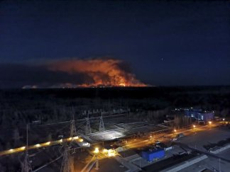 Fires have been extinguished near radiation-contaminated area near the Chernobyl nuclear power plant