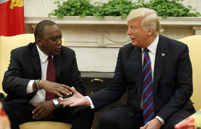 Trump welcomes president of Kenya to the White House