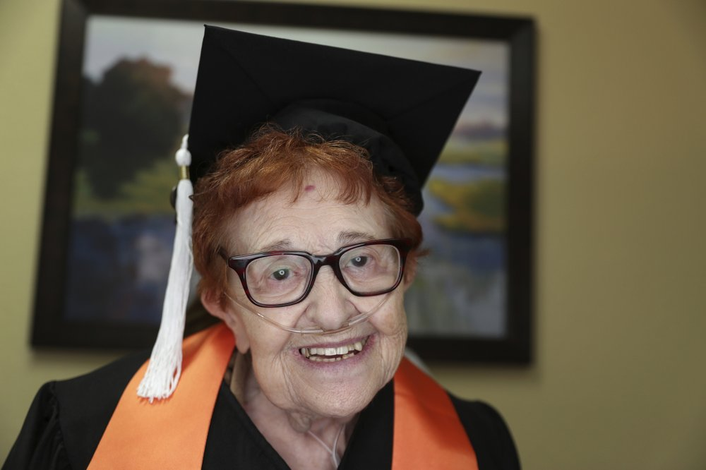 Janet Fein earns her bachelor's degree.