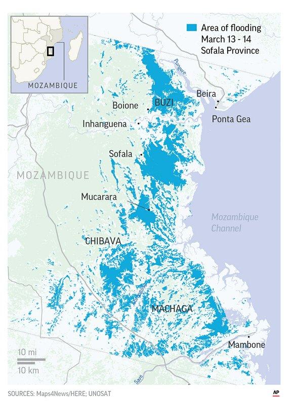 MOZAMBIQUE CYCLONE FLOODING