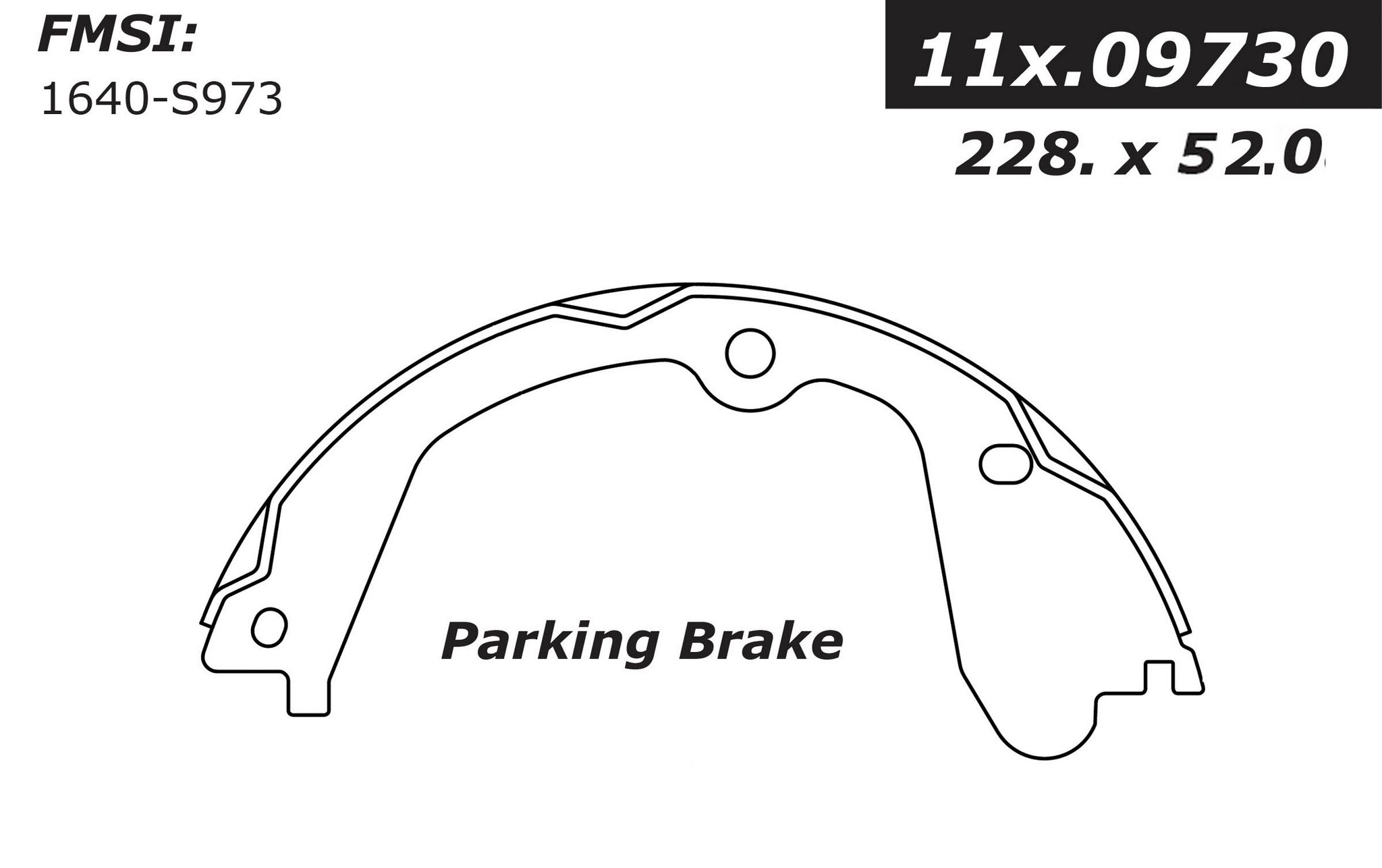 Chevrolet Express Parking Brake Shoe