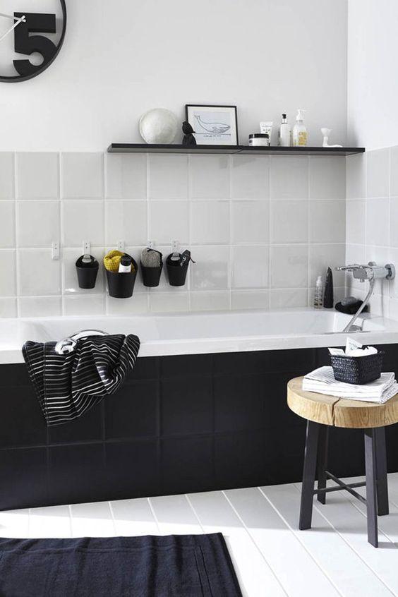Salle De Bain Noire Et Blanche 15 Idees Pour Vous Inspirer Kozikaza
