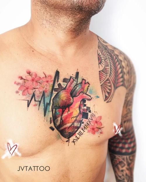 Heart tattoo by Victor Martins