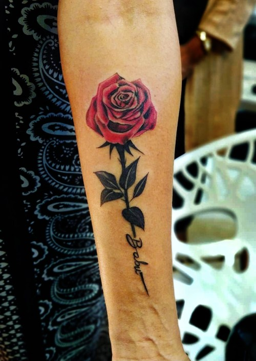 Rose love tattoo by from Verve
