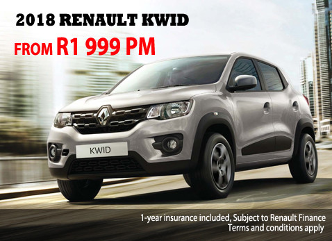 2017 RENAULT KWID from R1 999 per month