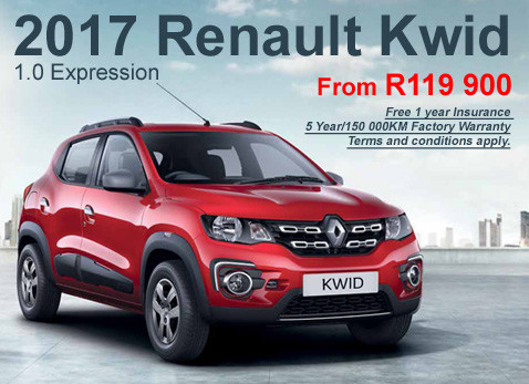 2017 RENAULT KWID 1.0 EXPRESSION from R119 900