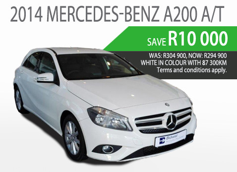 2014 Mercedes Benz A200 A/T - Save R10 000