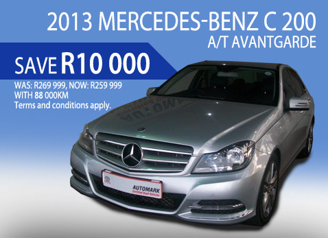 2013 Mercedes Benz C200 A/T Avantgarde - Save R10 000