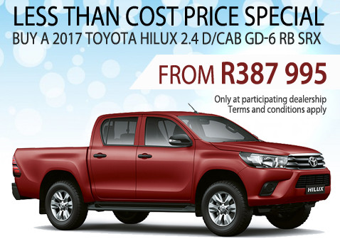 2017 Toyota Hiluc 2.4 D/Cab GD-6 SRX less than cost special