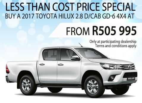 2017 Toyota Hilux D/C GD-6 Double Cab R505 995