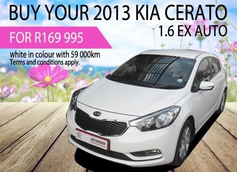 2013 Kia Cerato 1.6 EX Auto R169 995
