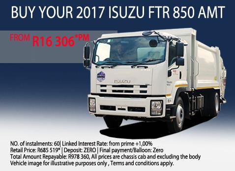 2017 Isuzu FTE 850 AMT
