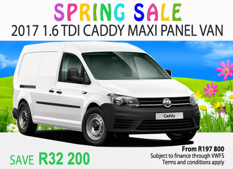 2017 1.6 TDi Caddy Maxi Panel Van - Save R32 000