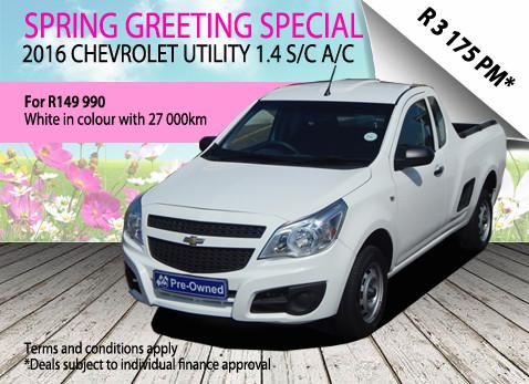 2016 Chevrolet Utility 1.4 S/C A/C