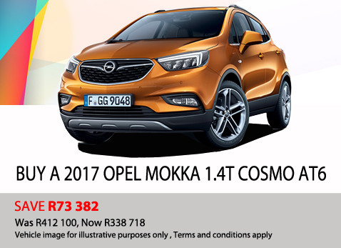 2017 Opel Mokka 1.4T Cosmo AT6 -Save R73 382