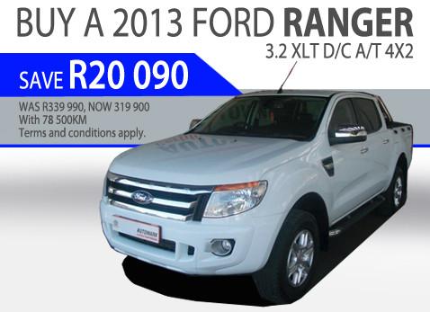 2013 Ford Ranger 3.2 XLT D/C A/T 4X2 - Save R20 090!