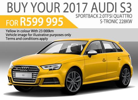 Pre-owned 2017 Audi S3 Sportback 2.0 TFSi Quattro S-Tronic