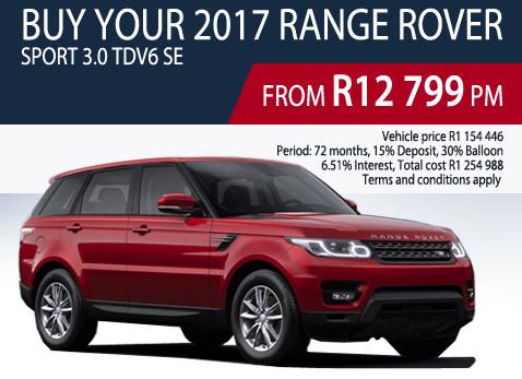 2017 Range Rover Sport 3.0 TDV6 SE
