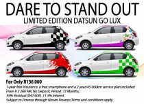 Limited Edition Datsun GO LUX special offer