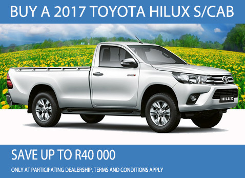 2017 Toyota Hilux Single Cab special - Save up to R40 000