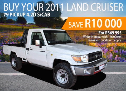 2011 Land Cruiser 79 Pick Up 4.2D S/Cab - Save R10 000