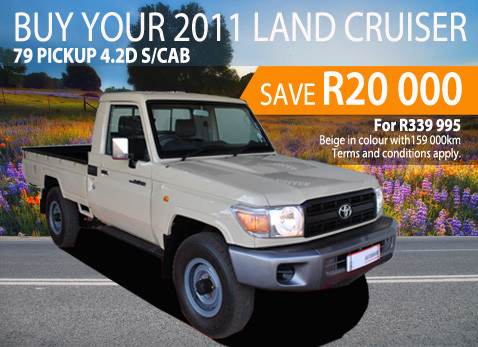 2011 Land Cruiser 79 Pick Up 4.2D S/Cab - Save R20 000