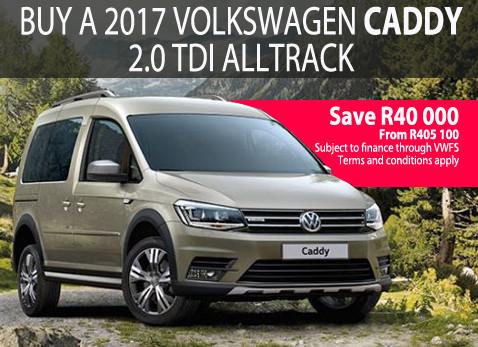 Buy a 2017 VW caddy 2.0 TDi AllTrack - Save R40 000