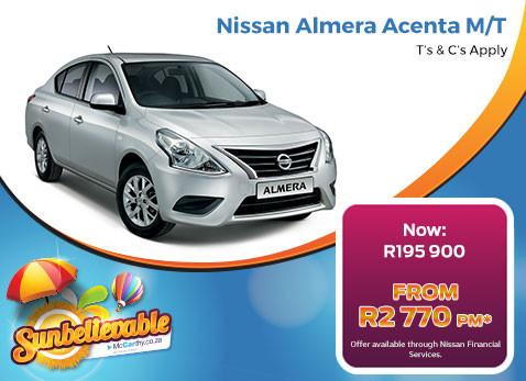 Buy a new Nissan Almera Acenta M/T now R195 900