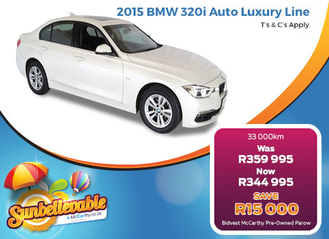 2015 BMW 320I AUTO LUXURY LINE - Save R15 000
