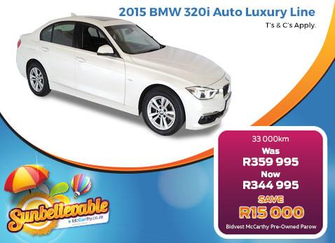 2015 BMW 320I AUTO LUXURY LINE - Save R15 000