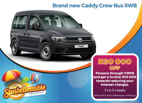 BRAND NEW CADDY CREW BUS SWB - Save R30 000!