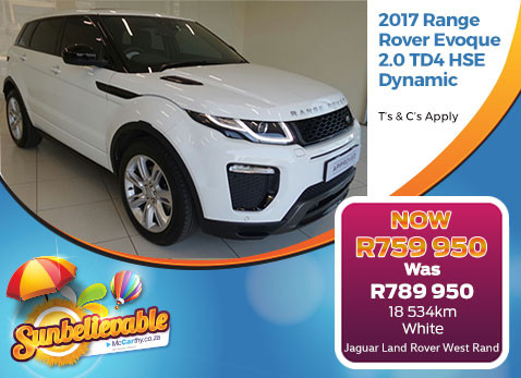 2017 RANGE ROVER EVOQUE 2.0 TD4 HSE DYNAMIC - Save R30 000